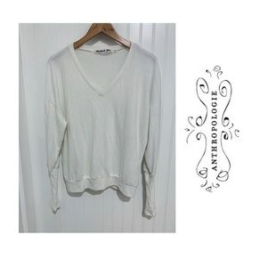 Anthropologie Michael Stars white fuzzy Sweater